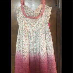 Betsey Johnson sz 8 Ombré Floral Dress